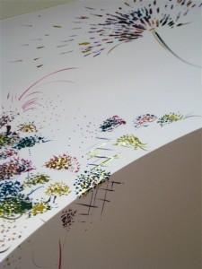 Peinture murale magasin douceu et charme à château-gontier