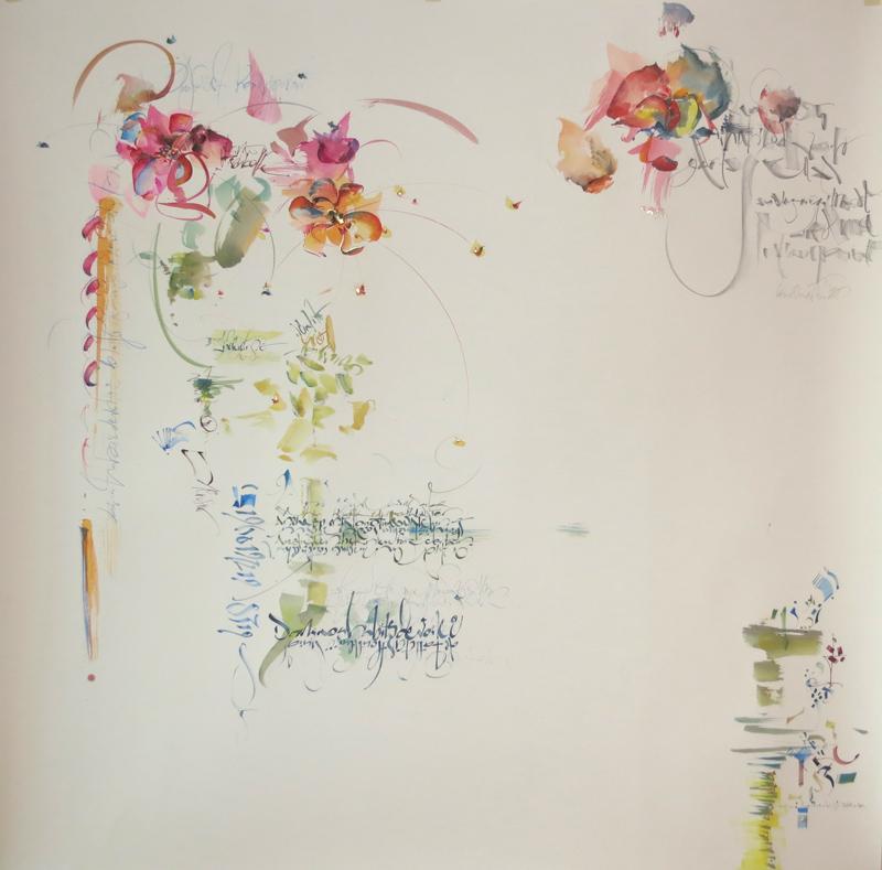 "Tableau ""Flou"" - Artiste peintre 53"