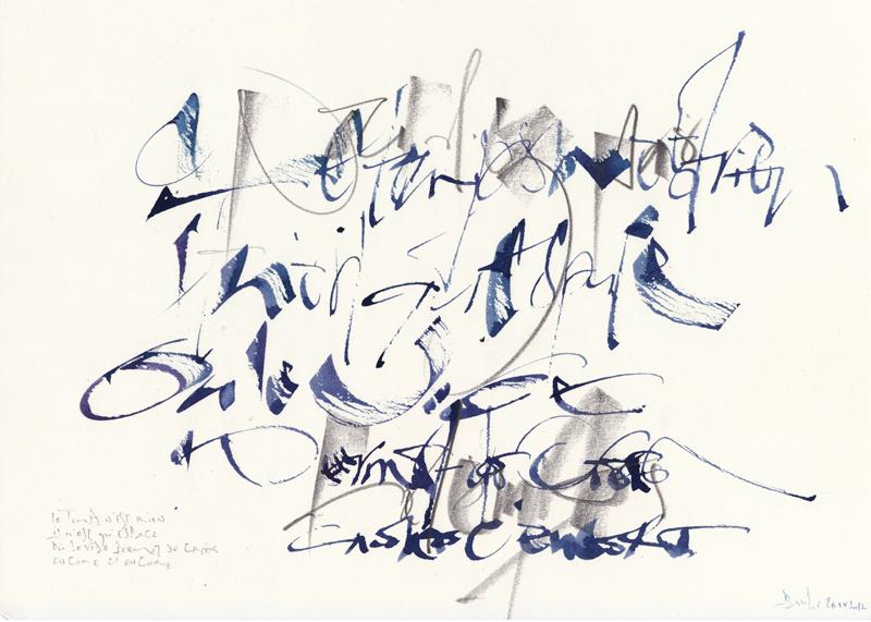 Calligraphie - Par Paule Persil Faguier