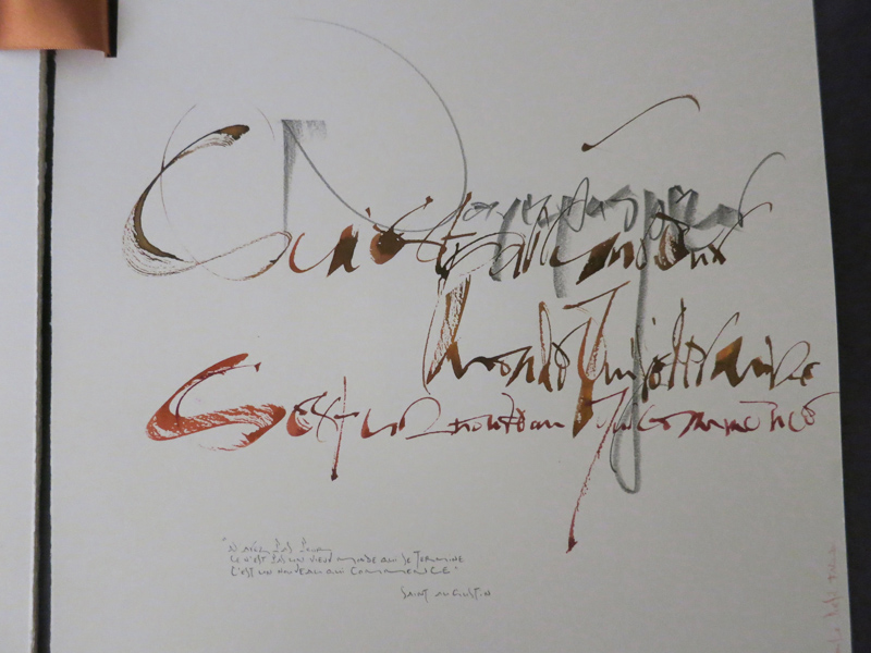Oeuvre calligraphie