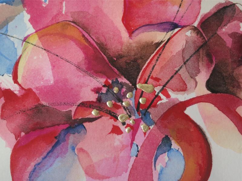 "Peinture ""Flou"" - Paule Persil Faguier"