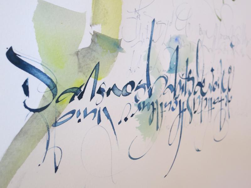 """Tableau """"Flou"""" par Paule Persil Faguier"""